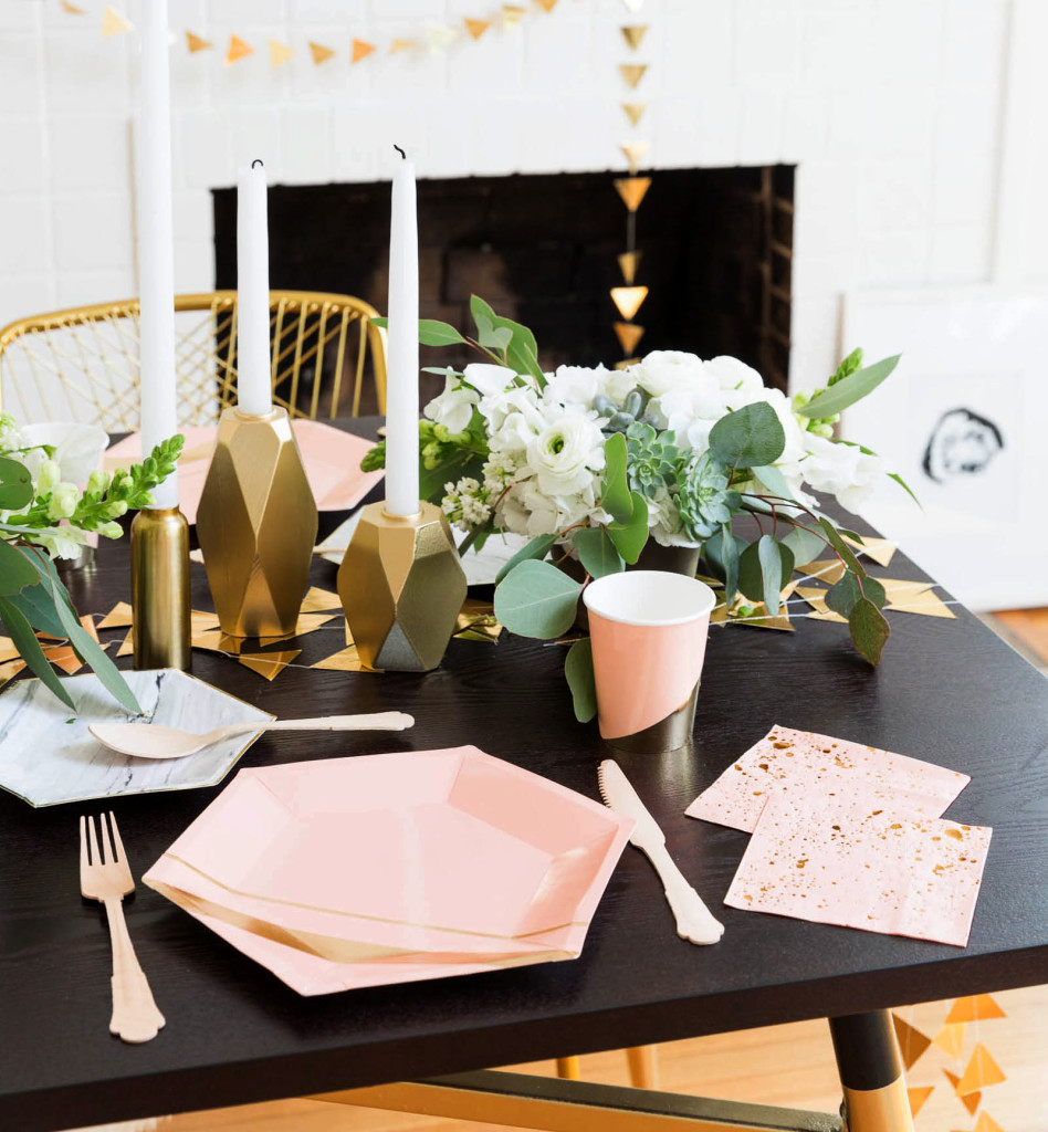 Harlow & Grey Partyware With Stunning Style: Tablescape Close Up