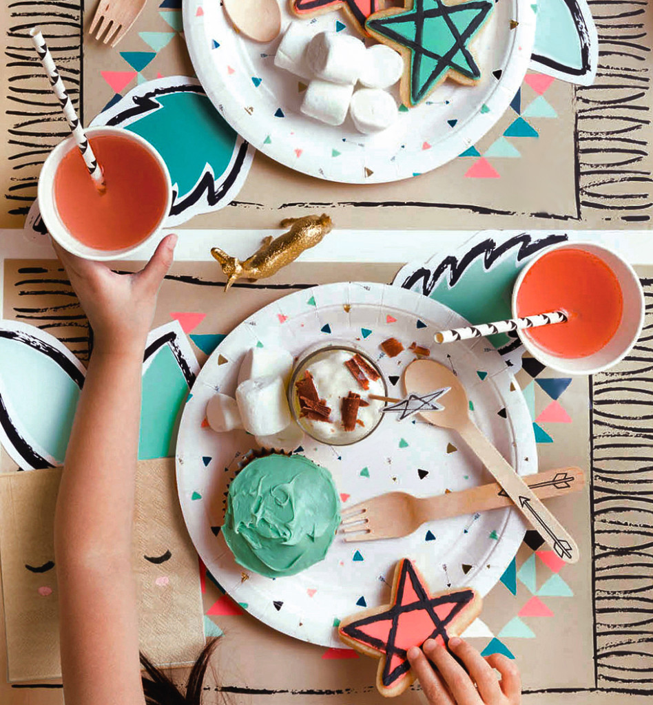 Harlow & Grey Partyware With Stunning Style: Kids Party Tablescape and Desserts