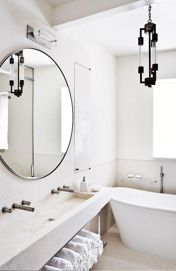 Round Mirrors Bathroom